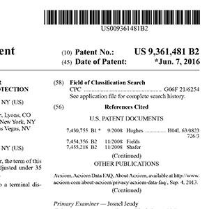 Patent US 9,361,481