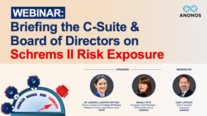 Webinar:Briefing the C-Suite & Board of Directors on Schrems II Risk Exposure