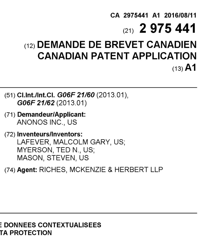 Patent CA 2,975,441