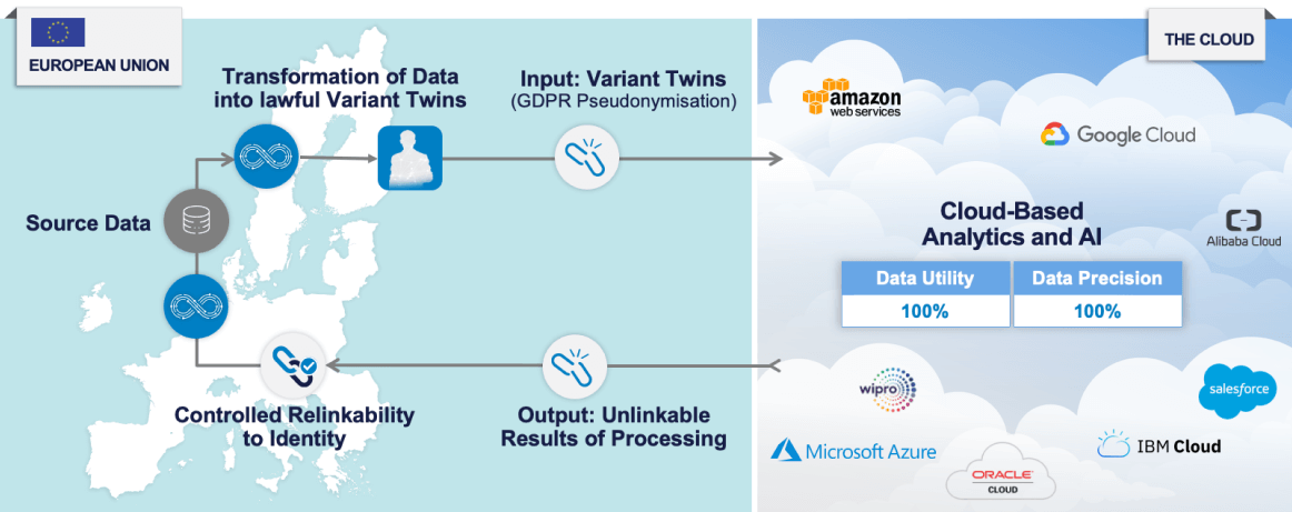 Example 3: Anonos Variant Twins make Analytics, AI & ML and International Transfers / Cloud Processing of EU Data Lawful