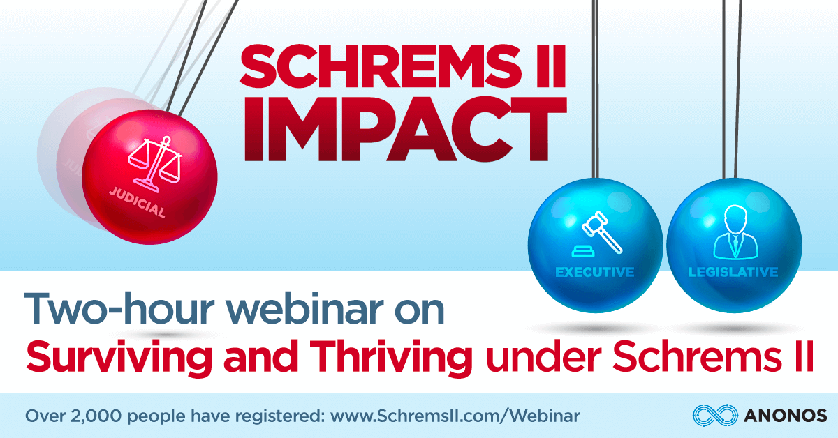 Two-hour webinar on Surviving and Thriving under Schrems II